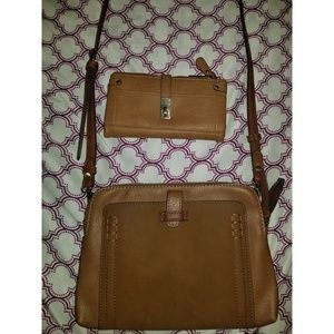 |matching wallet and leather cross body bag|